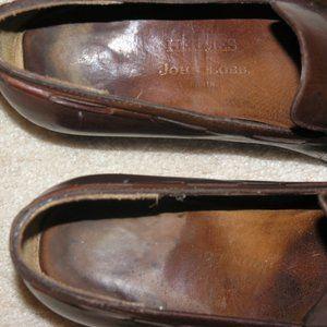 Hermes Shoes - Hermes John Lobb Brown Leather Kiltie Loafers SZ 8